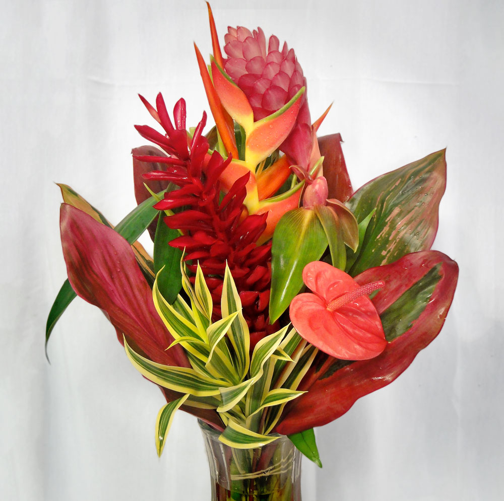 "The Poipu Tropical Bouquet, ""Sunshine"" radiates from warm flowers in ..."