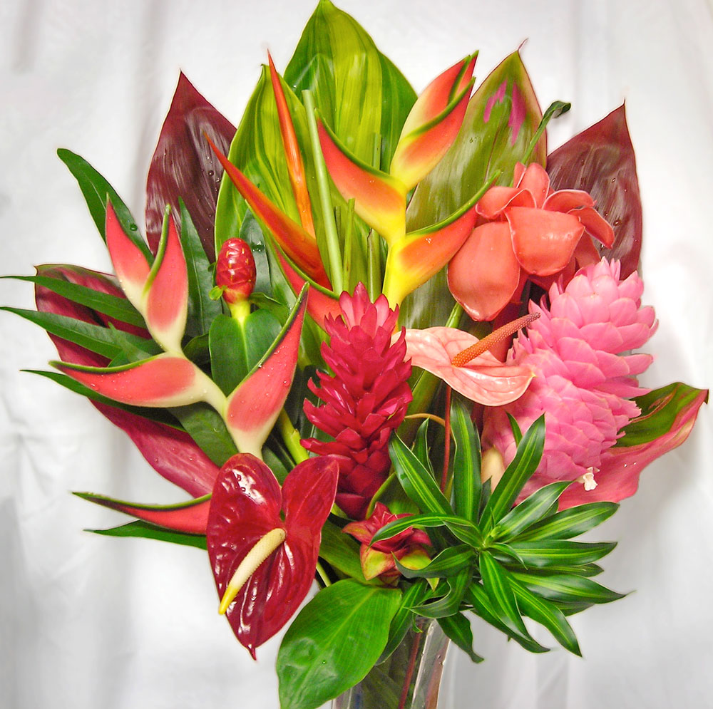 The wailua hawaiian floral arrangement make their day