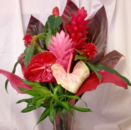 Valentines Special Heart Shaped Tropical Flowers from Hawaii