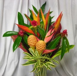 Our Tropical Spring Flower Arrangement