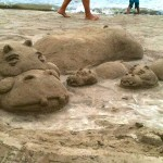 Hippo Sand Art in Hanalei