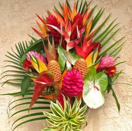 A custom arrangement featuring all of the amazing tropicals that are currently in season on our Kauai flower farm