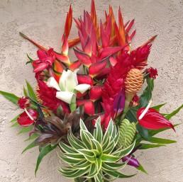 """Each flower arrangement is unique & approximately 34"""" tall."""