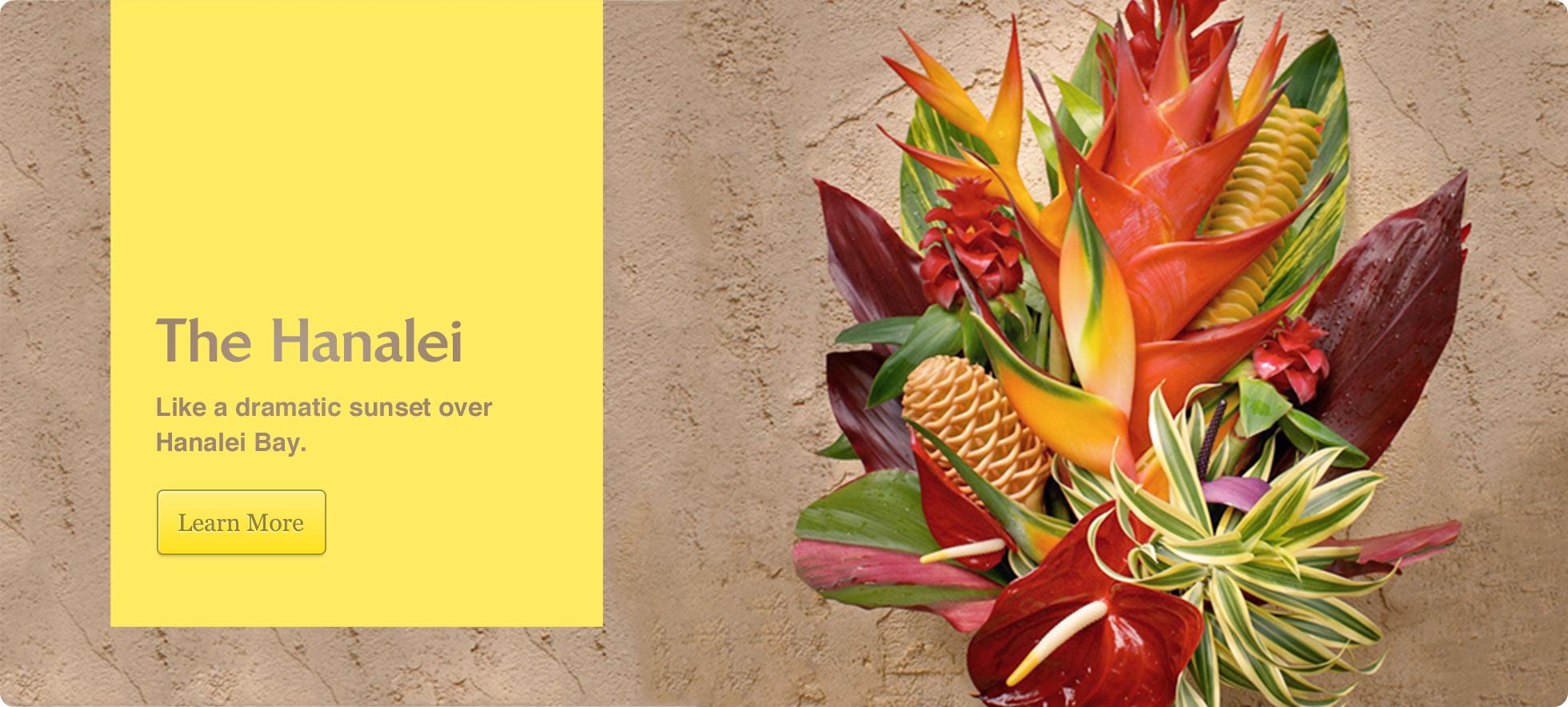 Hanalei Flower Bouquet Order Tropical Flowers *